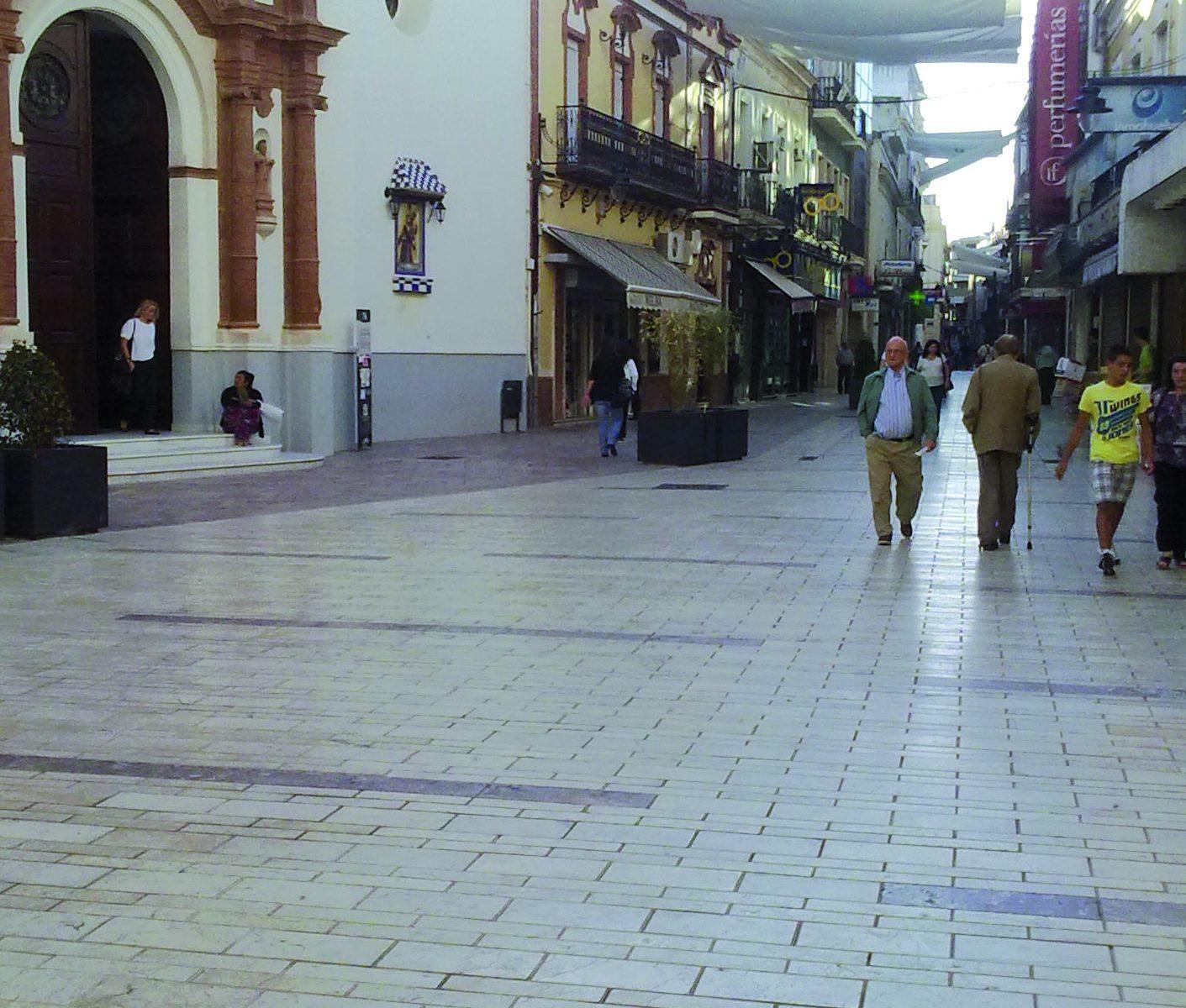 Peatonalización de las calles del centro